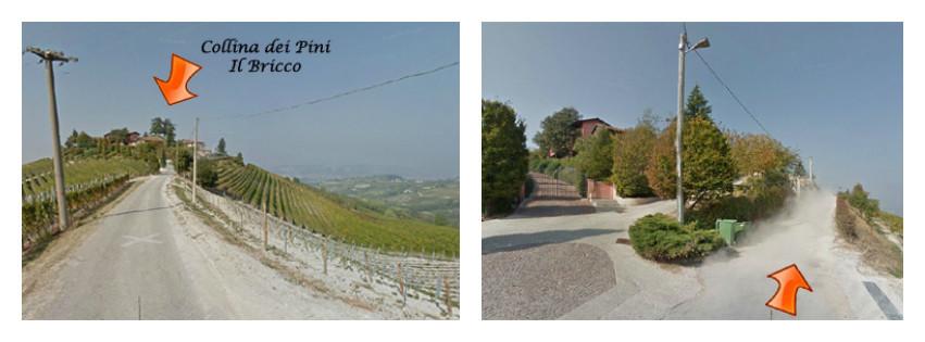 La strada per il Bricco, da Google street view