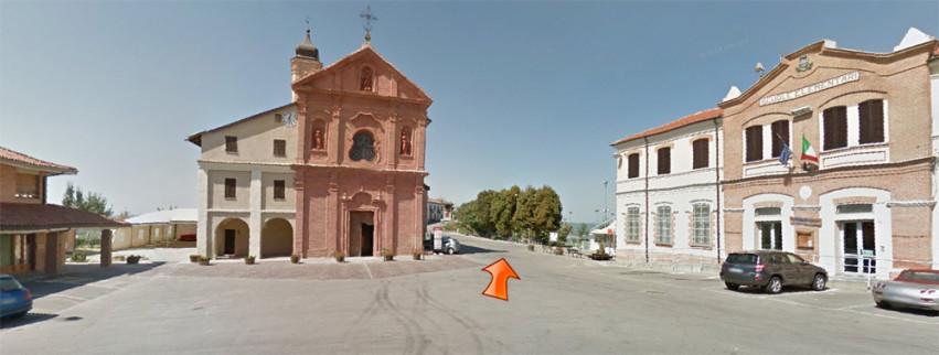 La piazza di Treiso, da Google street view