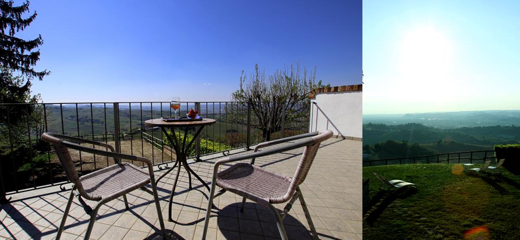 La terrazza e il giardino